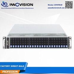 2019 Nuovo 2U 650 millimetri 24*2.5 alloggiamenti HDD hotswap server rack telaio con 12 GB Mini HD backplane supporto 13*12 pollici scheda madre