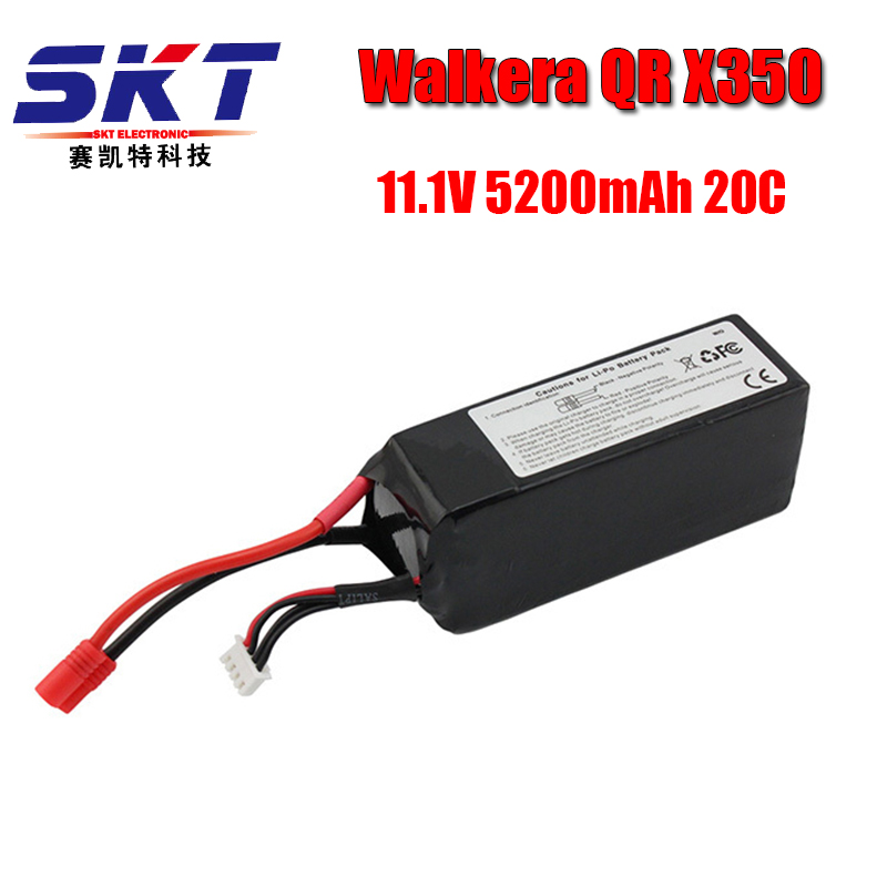 Walkera QR X350 PRO Lipo battery 11.1V 5200Mah 3S 20C RC Drone Quadcopter SPARE PARTS SKT RC LI Po battery walkera qr x350 pro battery 11 1v 5200mah lipo battery qr x350 pro z 14 walkera qr x350 pro parts shipping by plane
