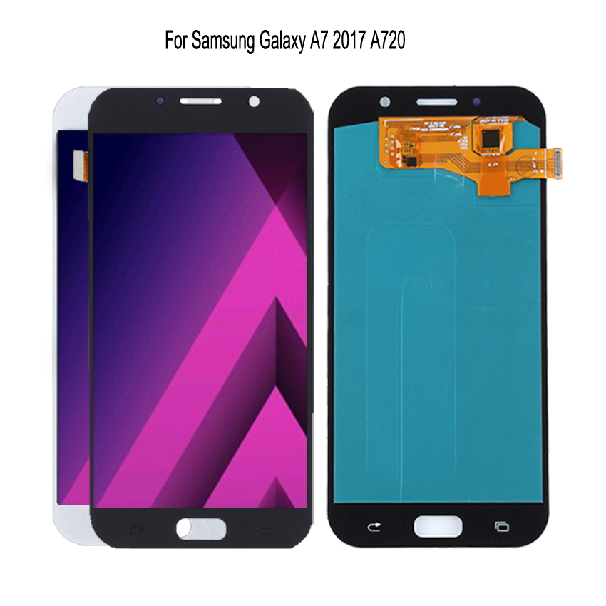 AMOLED For Samsung Galaxy A7 2017 A720 A720F SM A720F LCD Display Touch Screen Digitizer Assembly