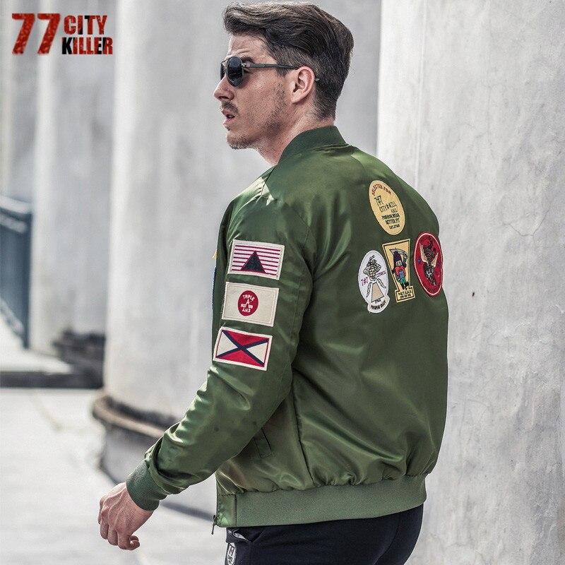 77 ciudad asesino Casual Air Force vuelo chaqueta hombres más tamaño 6XL táctico militar chaqueta casaco masculino chaqueta del bombardero del piloto