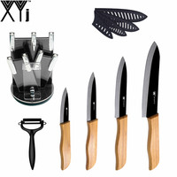 XYJ Brand Professional Kitchen Knife Gift Set 3 4 5 6 Ceramic Knife Sharp Peeler And