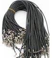 Оптовая продажа 100 шт 18 дюймов Ожерелье Веревка кожаное ожерелье веревка оптовая продажа Бесплатная доставка - фото