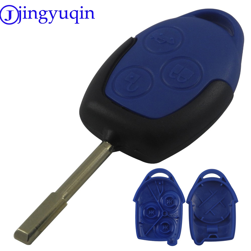 jingyuqin Hot Sale 3 Buttons Transit Connect Set Remote Car Key Shell Styling Cover For Ford Transit Blue Case цены онлайн