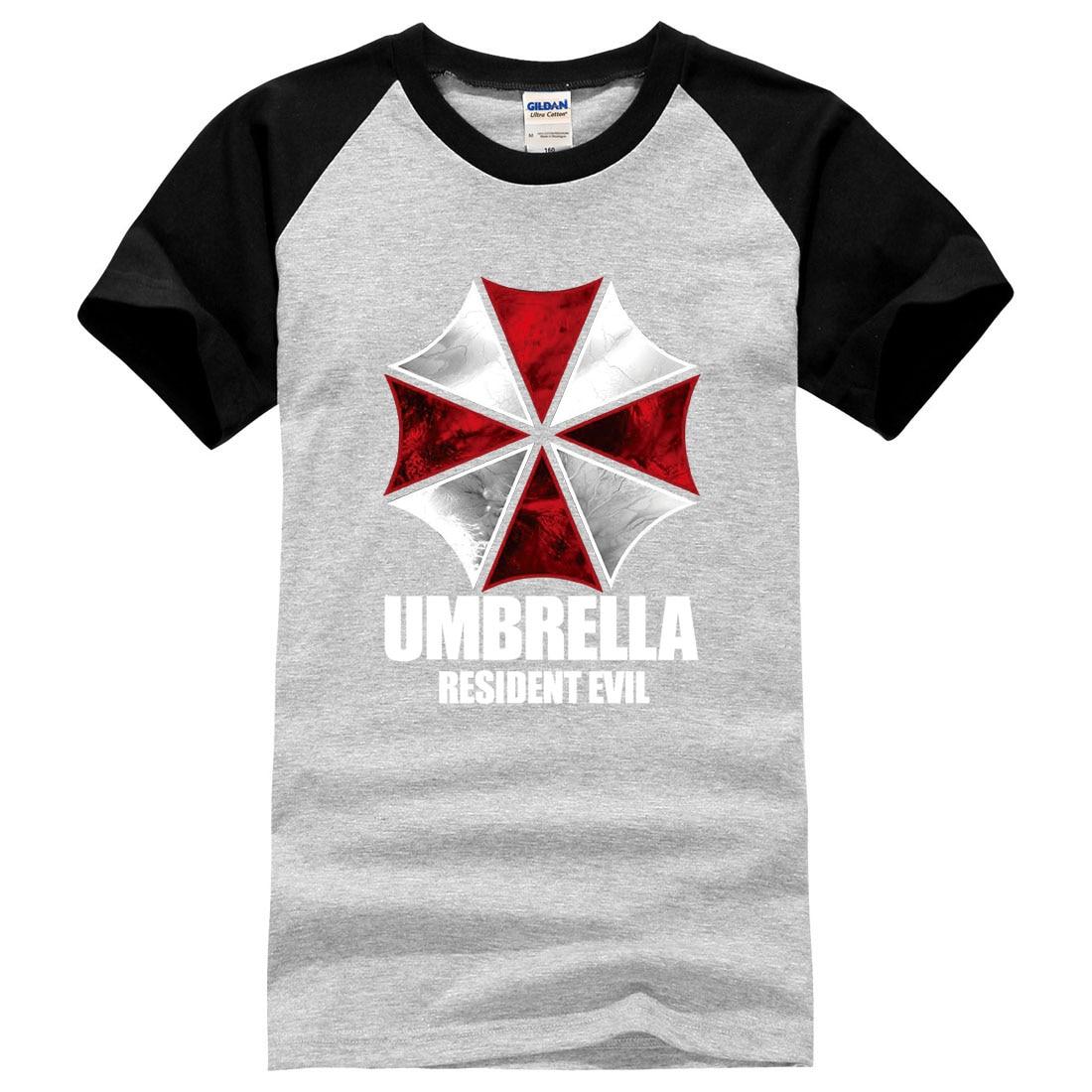 Resident Evil Umbrella Loose Printed Mens Men T Shirt 2016 Summer Male Brand Clothing 100 Cotton