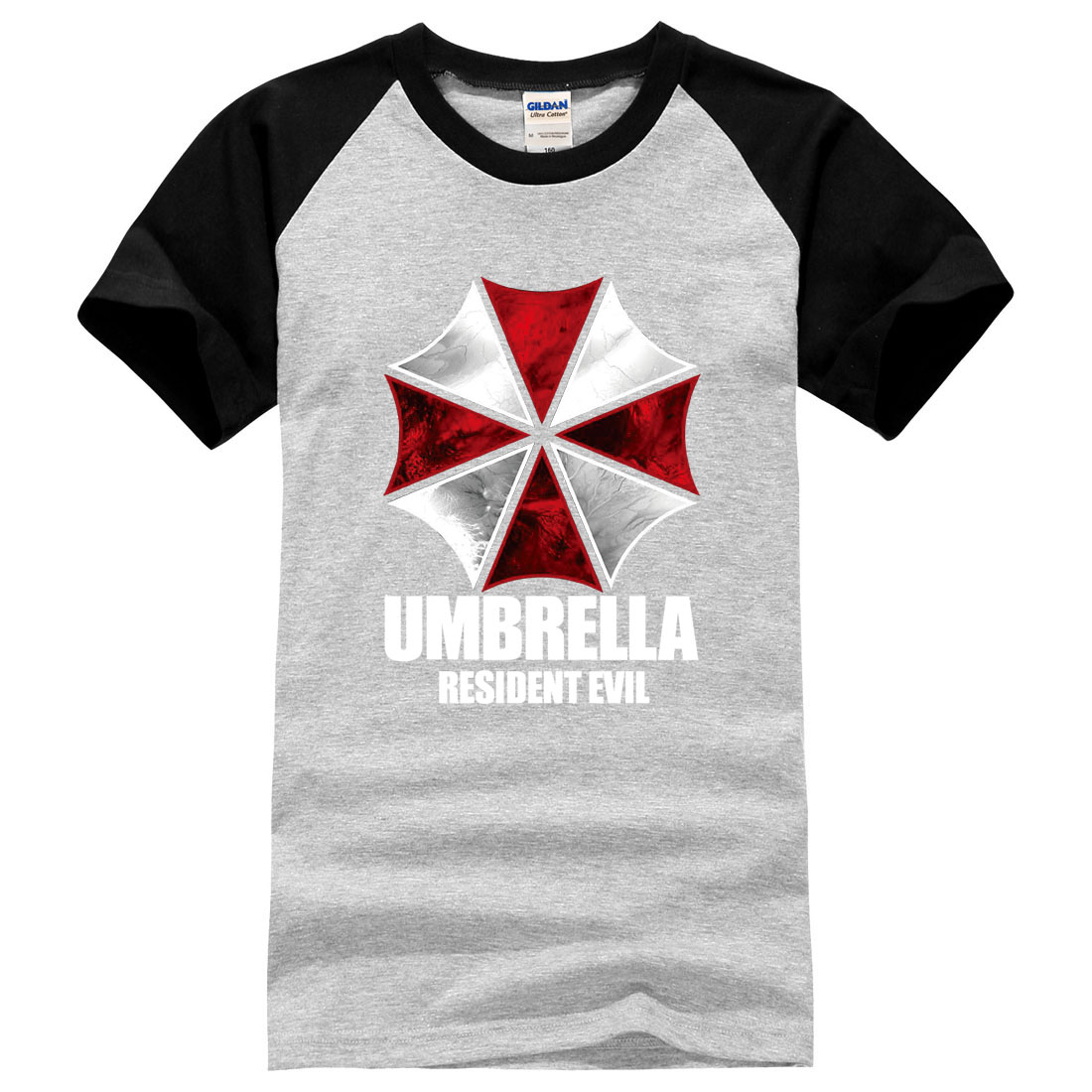 Resident Evil Umbrella Loose Printed Mens Men T Shirt 2016 Summer Male Brand Clothing 100 Cotton