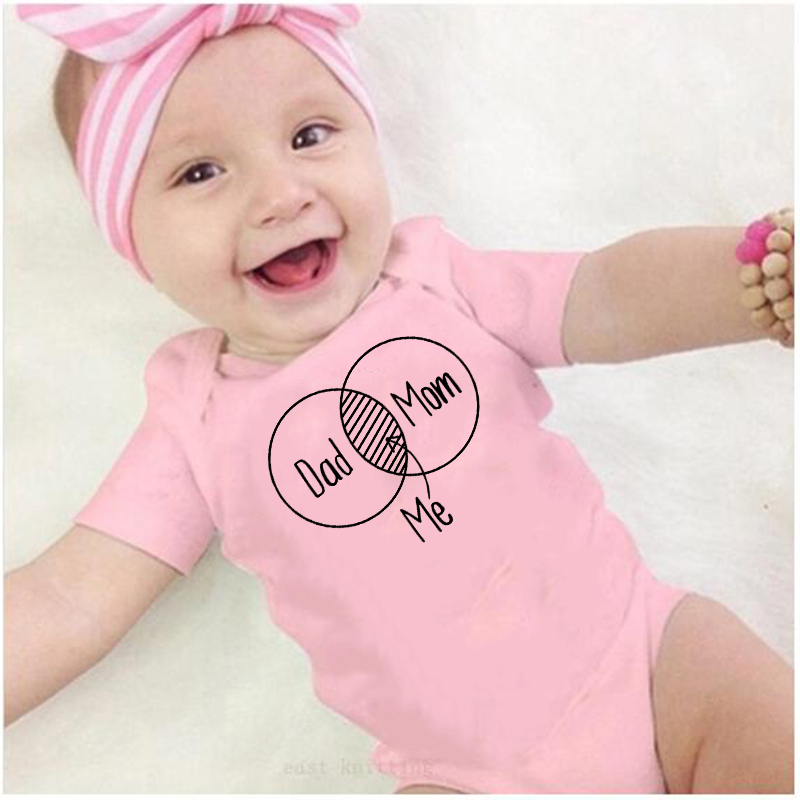 Mom and Dad belong to me Letter Print Baby Clothes Boy&Girl