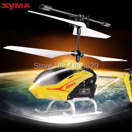 Envío gratis HotSell juguetes de control remoto SYMA S5 3.5 canales mini rc helicóptero eléctrico y drone modelo para los niños regalo de cumpleaños