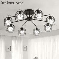 현대 간단한 성격 램프 크리 에이 티브 미국 북유럽 거실 샹들리에 침실 램프