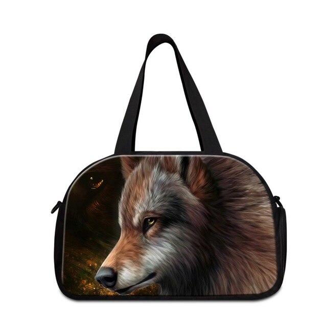 3037e1d9dd29 Последние Прохладный дорожные сумки для мужчин плеча спортивные сумки обувь  мальчиков волк тренировки вещевой мешок с