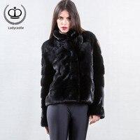 2018 Новое поступление, Рекомендуемая шуба из натурального меха норки, женская черная куртка, женская зимняя куртка на меху, натуральная MKW 146