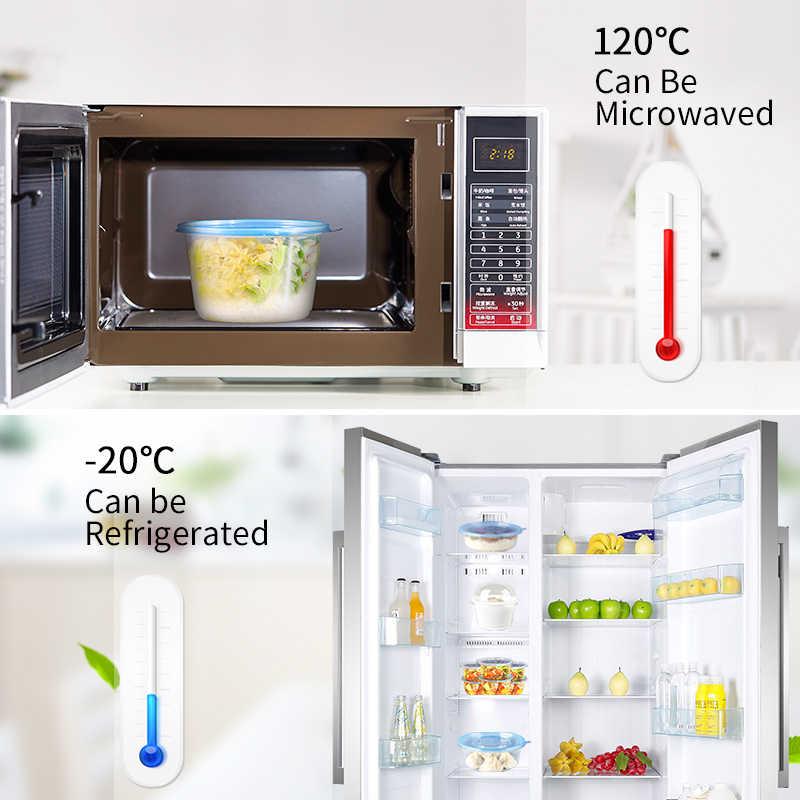OTOR 10 pcs 12 onças Descartável Bento Caixa De Plástico De Armazenamento De Refeição de Preparação de Alimentos Lancheira Reutilizável Microwavable Recipientes Casa Almoço caixa