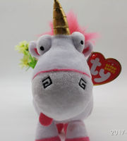 6in Ty Lovely Fluffy Unicorn Ponies Soft Plush Doll Toy For Kids