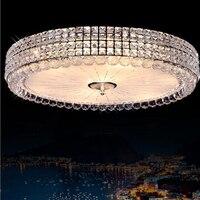 Modern Simple Circular High Power LED Chip Crystal Ceiling Lamp Living Room Bedroom Led Lighting Fixture