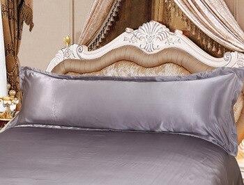 Enipate 120/150 Cm ארוך ציפית לבן מוצק כרית מקרה כיסוי משי סאטן בד בית טקסטיל 1 pc 2 גודל עבור שינה