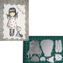 civet cat Girl Metal Cutting Dies 2019 Scrapbooking Craft Cut Stamps Embossing Stencils Invitation Card Making 30