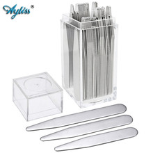 Ayliss Hot Selling 2 2-3 High Quality Metal Collar Stays Shirt Bone Stiffeners Inserts Fit For Mans Shirts Fathers Day Gifts cheap Tie Clips Cufflinks Fashion Classic Cuff Links jnz010201-02 Simulated-pearl Cuff Link and Tie Clip Sets Square 2 2 inches 2 5 inches 2 75 inches 3 0 inche