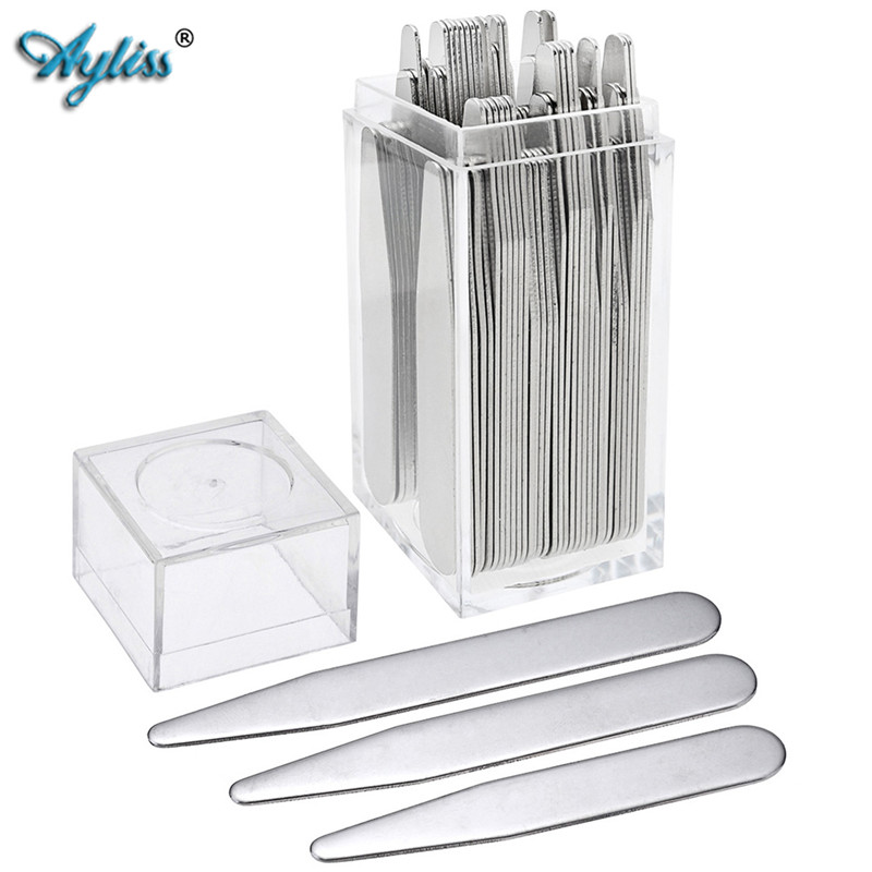Ayliss Hot Selling 2.2-3 High Quality Metal Collar Stays Shirt Bone Stiffeners Inserts Fit For Mans Shirts Fathers Day Gifts