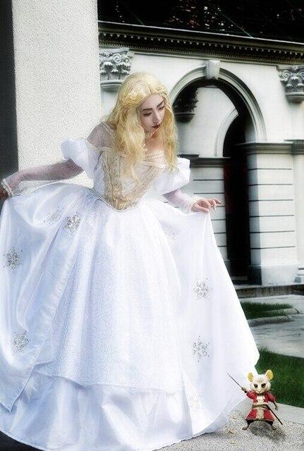 Alice Im Wunderland Die Weiße Königin Cosplay Kleid Set Für