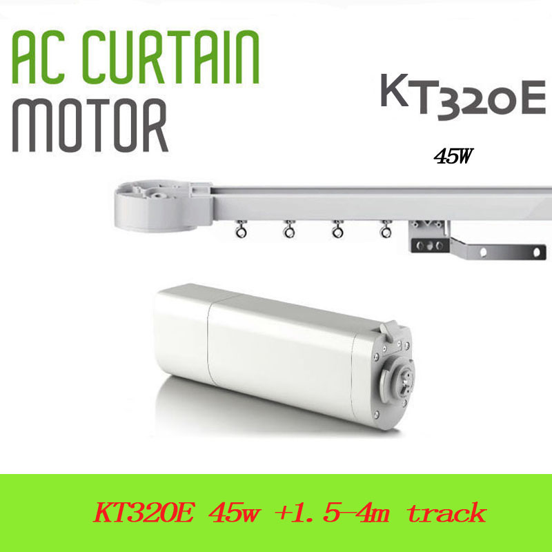 Dooya Sunflower 220V 50mhz Electric Curtain Motors KT320E 45W built -in receiver intelligent silence track for Russsian Line