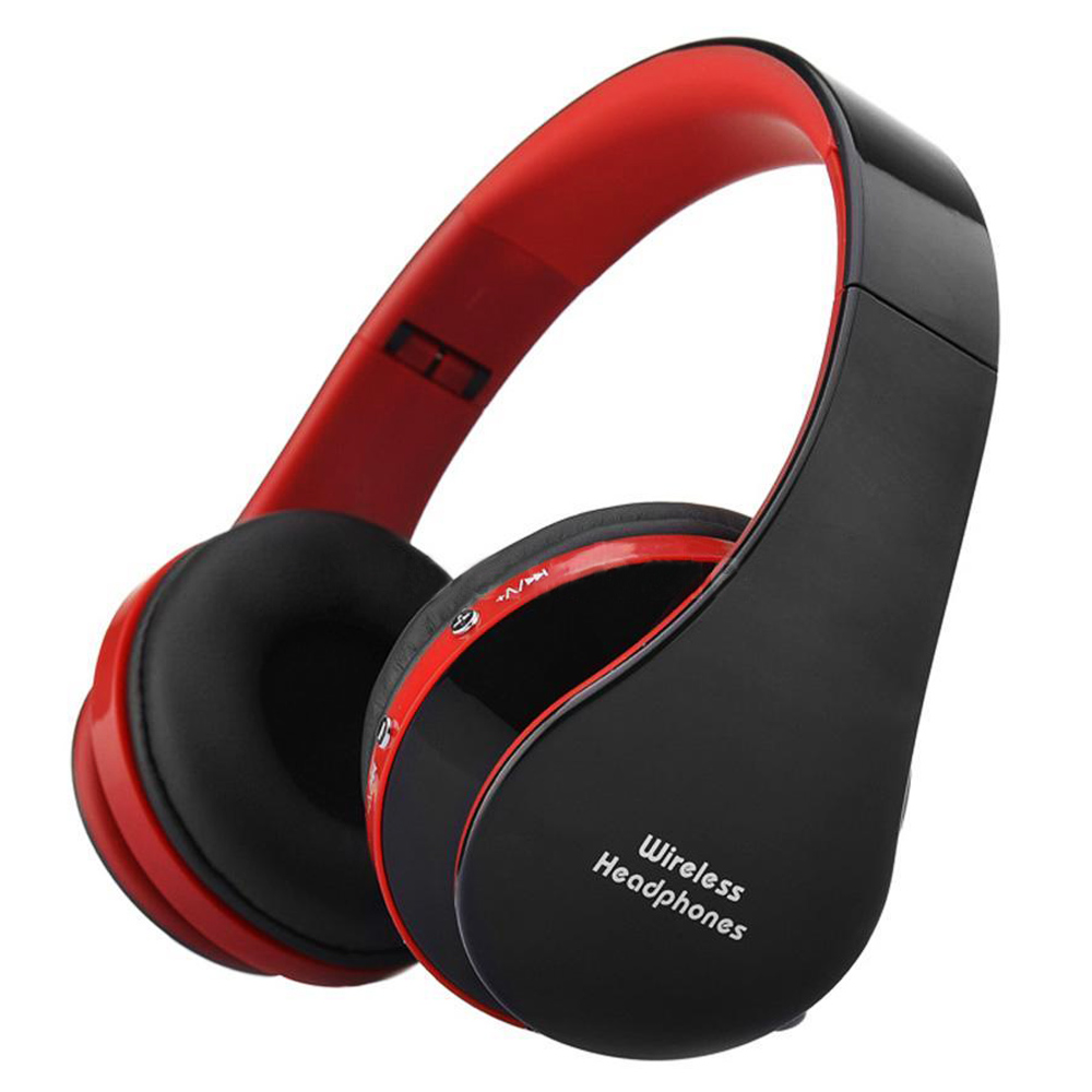 Foldable Bluetooth Wireless Headset Sport Stereo Headphone Earphone Handfree Mic Color:Black & Red economic set original nia q1 8 gb micro sd card a set bluetooth headphone wireless sport headsets foldable bluetooth earphone