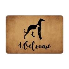 Cửa Trước Thảm Thảm Welcome Greyhound Chó Hoan Nghênh Bạn Đã Có Thể Giặt Bằng Máy Cao Su Không Trơn Trượt Lưng Phòng Tắm Nhà Bếp Trang Trí Khu Vực Ngộ Nghĩnh D