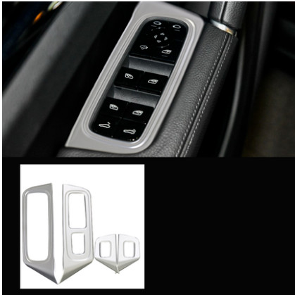 car auto cover For PORSCHE Cayenne 2018 ABS chrome armrest regulator door window lifter switch button panel trim in Car Stickers from Automobiles Motorcycles