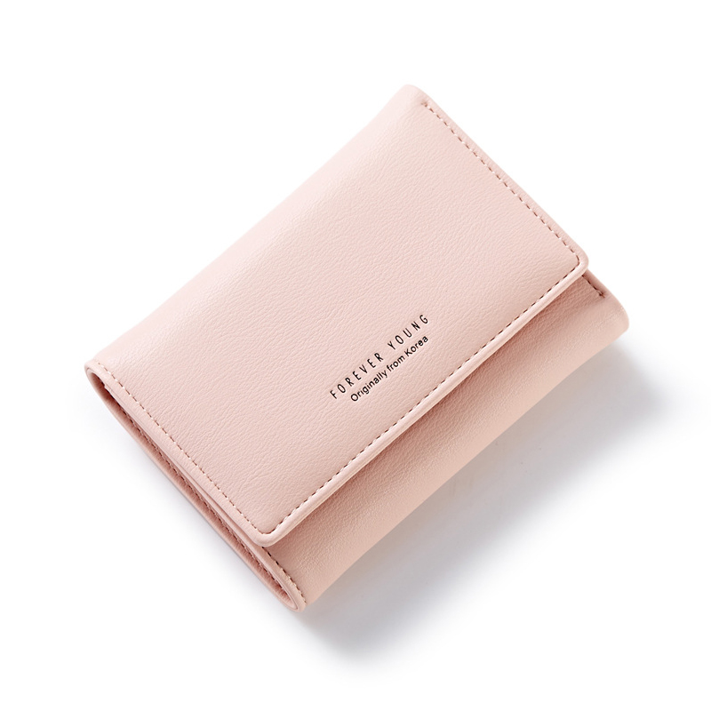 New Elegant Women Leather Wallet Multifunction Short Style Female Solid Colorful Purse