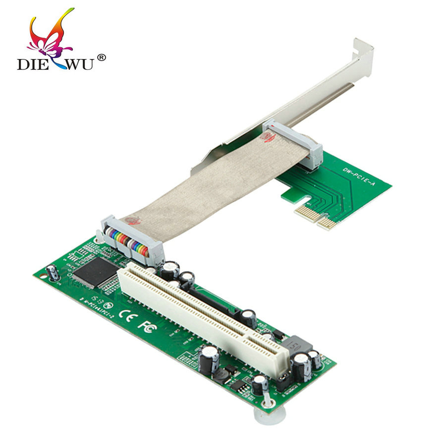 PCI-E PCI express to PCI adapter cable mini pcie x1 to x16 riser card for bitcoin miner