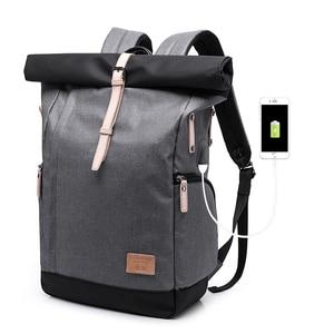 Image 5 - KAKA Brand Men Women Backpack Bag College Casual School Backpack Male Travel Bag 15.6 USB Laptop Backpacks Mochila knapsack