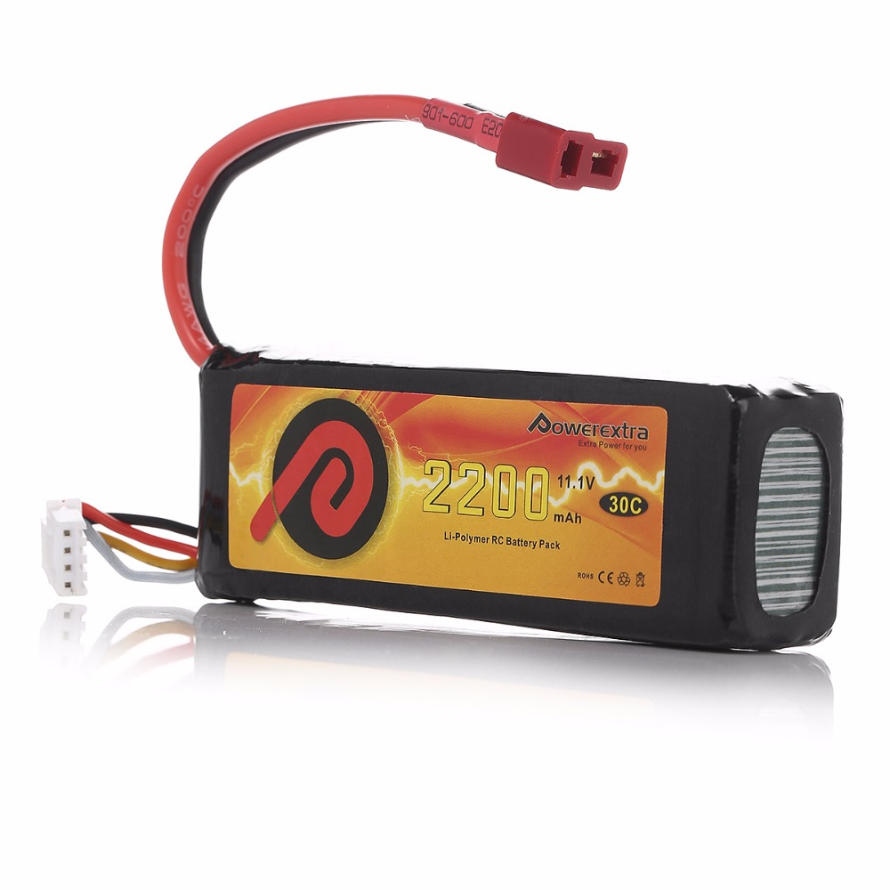 Powerextra 11 1V 2200mAh 30C font b RC b font Helicopter Li Polymer Replacement Battery font