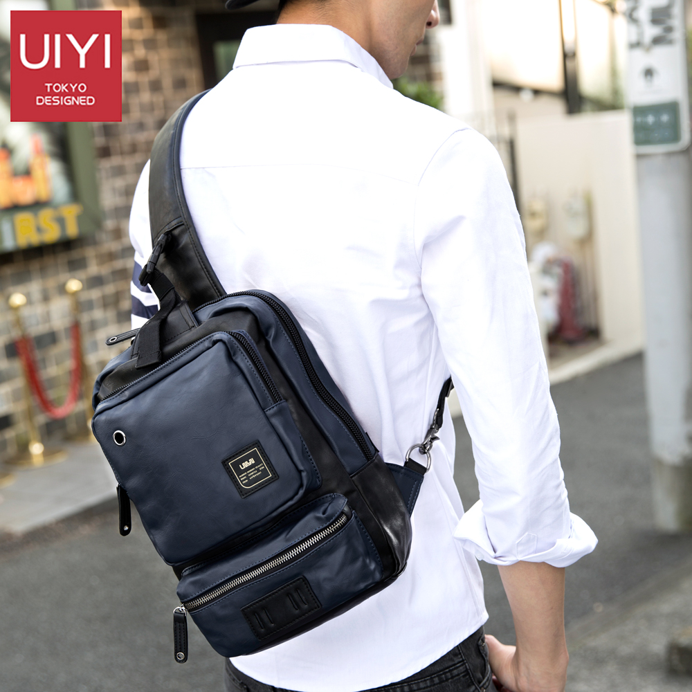 b46fd7c604 UIYI Shoulder Bag Men s Back Pack PU Leather Chest Bag Female Casual  Messenger Men s Bag pad