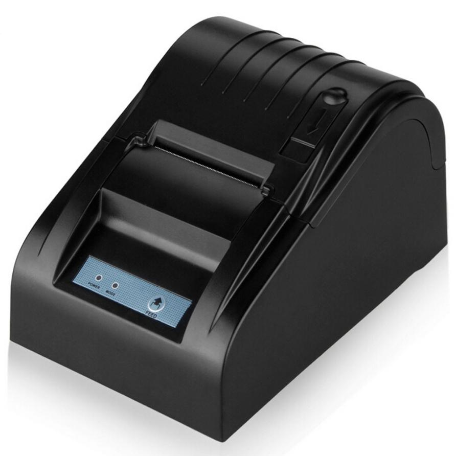 ФОТО Good Sale ZJ-5890T 58mm Thermal Printer 58mm Thermal Receipt Printer 58mm USB POS Printer EU Plug Jul 25
