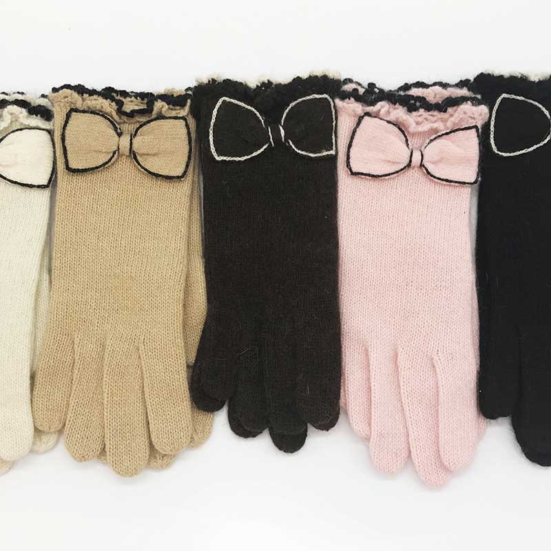 Korean Version Of The Cute Ladies Gloves Winter Thick Warm Cashmere Gloves Personality Non-Slip Wear-Resistant Knitted Gloves
