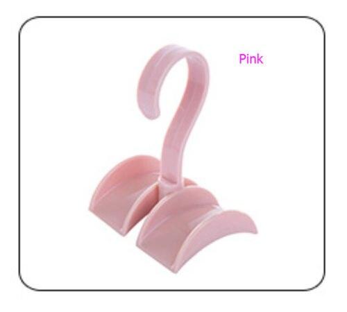 Шкаф Органайзер стержень вешалка Сумочка Хранение Кошелек Вешалка держатель крюк мешок s - Цвет: Розовый