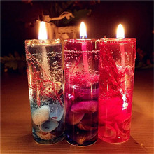 New 1Pcs Color Random Aromatherapy Smokeless candles Ocean shells jelly essential oil Wedding candles romantic scented candles