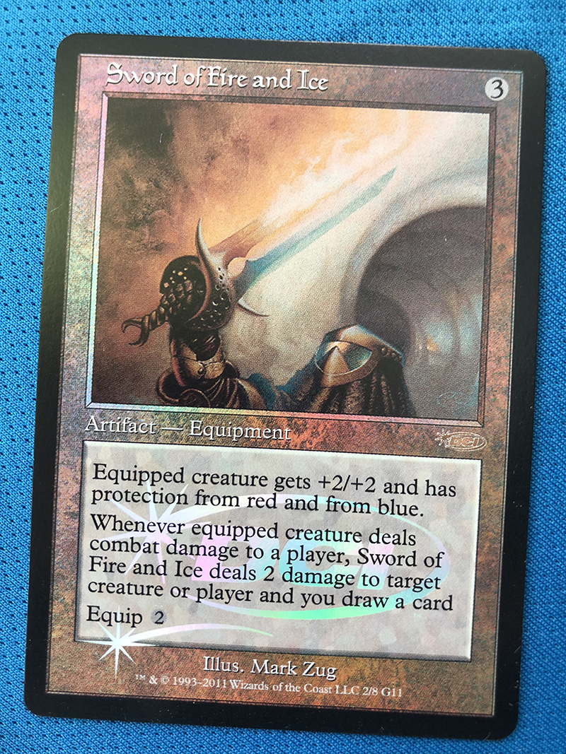 Sword Of Fire And Ice Judge Gift Cards 2011 Magician ProxyKing 8.0 VIP The Proxy Cards To Gathering Every Single Mg Card.