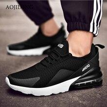 AOJILONG Brand Men Women Running Shoes Breathable Trainer Sneakers Zapatillas Hombre Deportiva 270 Air Cushion Sport Shoes Cheap