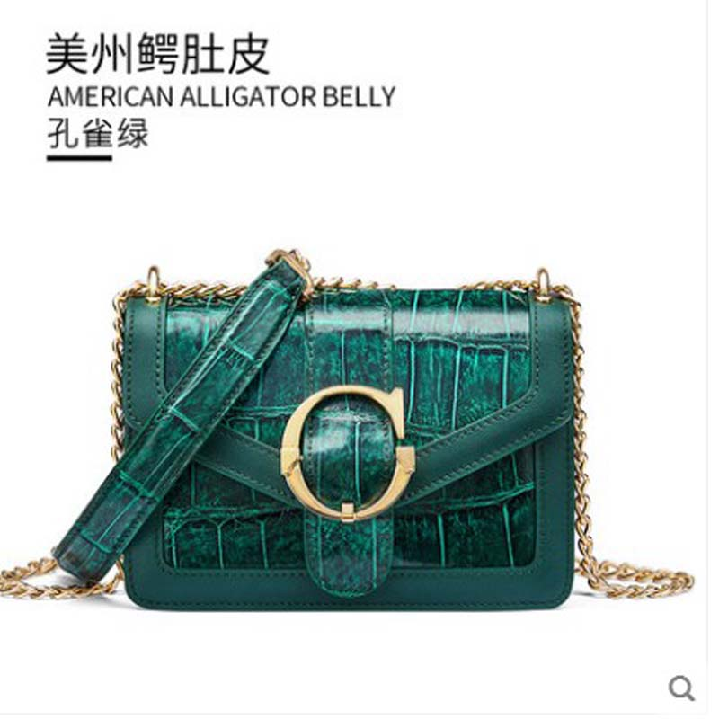 gete 2019 2019 new alligator skin lady bag large capacity American alligator belly single shoulder cross bag small square tide lgete 2019 2019 new alligator skin lady bag large capacity American alligator belly single shoulder cross bag small square tide l