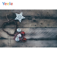 Yeele Christmas Photocall Fade Wood Snow Bells Decor Photography Backdrop Personalized Photographic Backgrounds For Photo Studio
