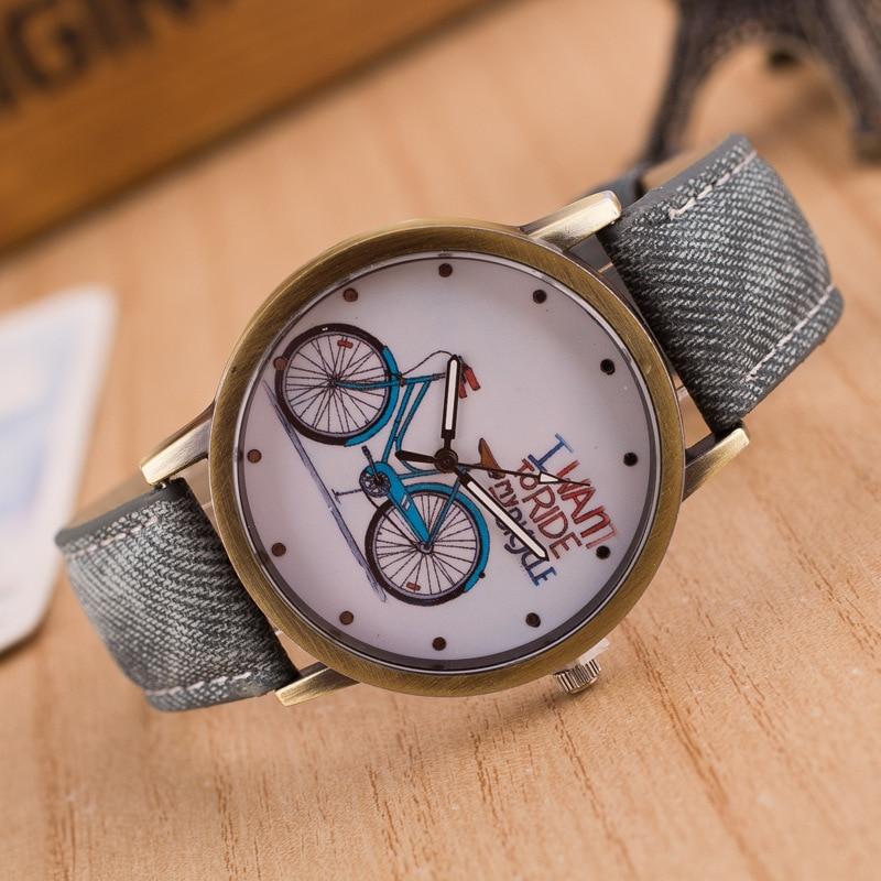 Top Luxury Brand Men Women Watch Retro Design Analog Unisex Bike ...