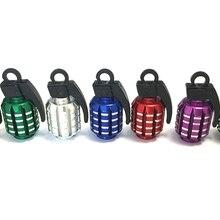 4 шт. граната алюминиевые колпачки для шин для авто велосипед мотоцикл сплав шины клапан Стволовые крышки для США клапаны автостайлинг запчасти