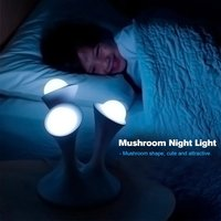 Creative Mushroom Kids Gift Rainbow Colorful Led Night Light Boon Glowing Led Lamp With Removable Balls