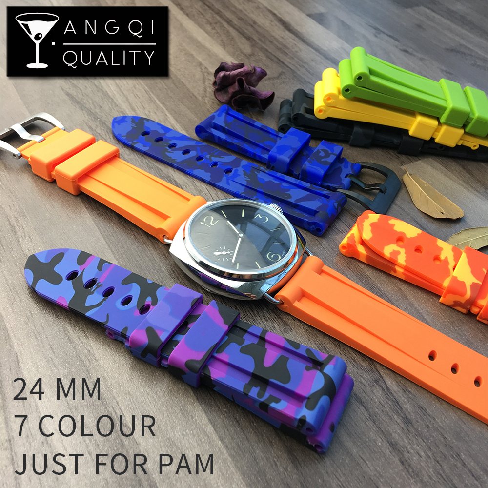 in from bracelet rubber item belt colorful bands watch for sports camouflage waterproof watches fashion watchbands strap watchband on panerai silicone