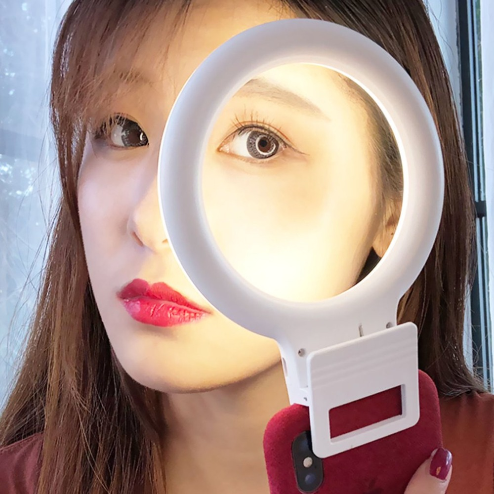 Portable Size Selfie LED Light Ring Flash Fill Clip Camera Phone Photography Enhancing Photography for Smartphone