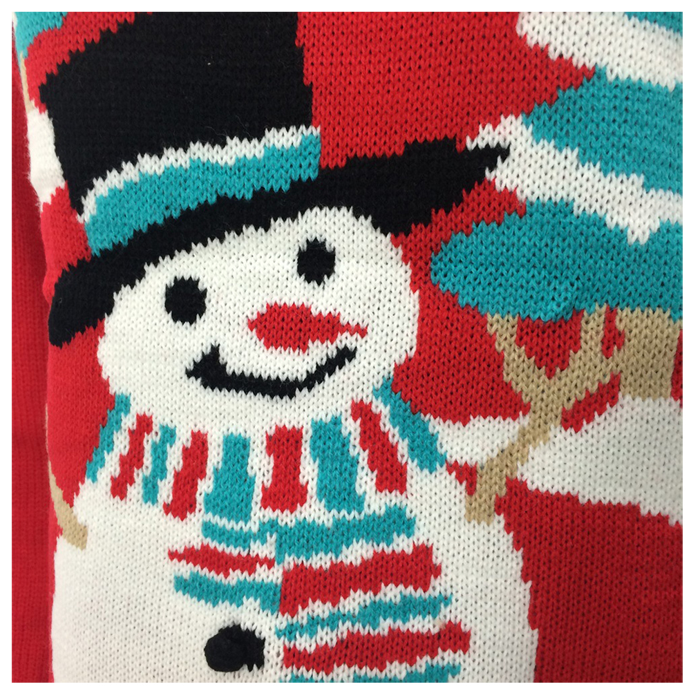 Women New Fashion Autumn Winter Pattern Knitted Snowman And Christmas Tree Sweaters Lovelys Christmas Sweater Knitting Leisure