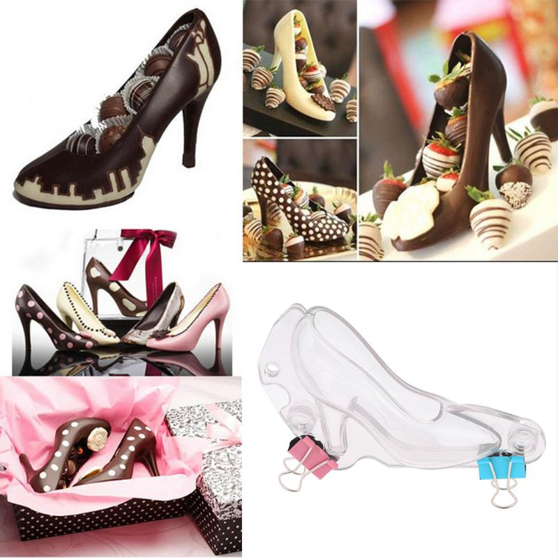 Shoe Chocolate Mold 3D High Heel Shoes Candy Sugar Paste Molds Cake Decorating Tools for DIY Home Baking Sugar Craft Accessories