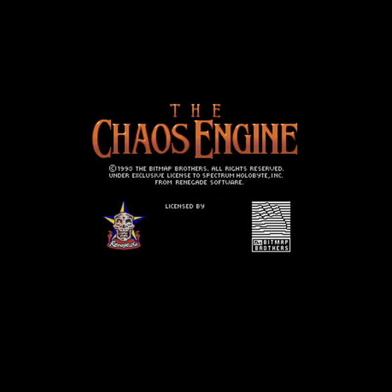 Chaos Engine, The 16 bit Big Gray Game Card For NTSC Game Player Drop Shipping image