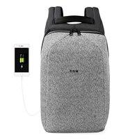 2018 DQM порезостойкие mochila USB 15,6 ноутбука Рюкзаки Путешествия Anti Theft сумка водостойкий Рюкзак для человека