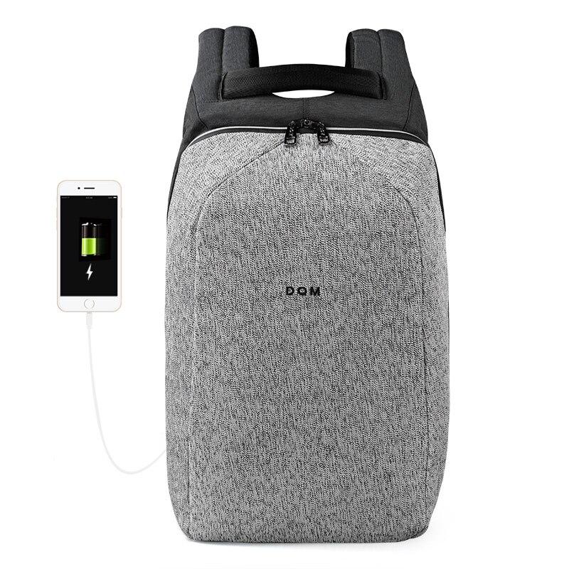 2018 DQM resistente al Taglio mochila USB 15.6 Del Computer Portatile Zaini Da Viaggio Antifurto sacchetto impermeabile zaino per l'uomo
