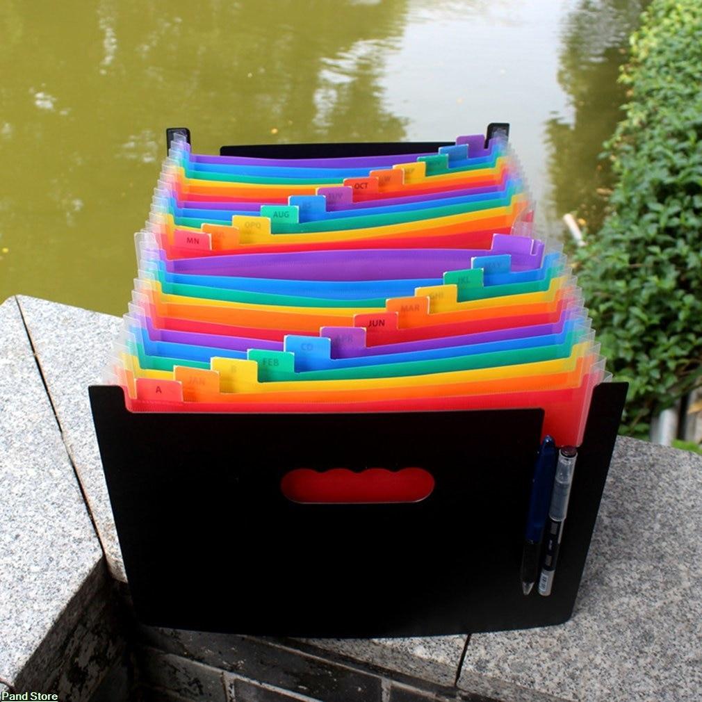 Funny Organ Design PVC Folders File Bag Document Hold Bags Storage Clip Folders Filing Paper Storage Office School Supplies